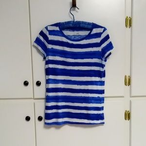 Crown And Ivy Watercolor Stripe T Shirt